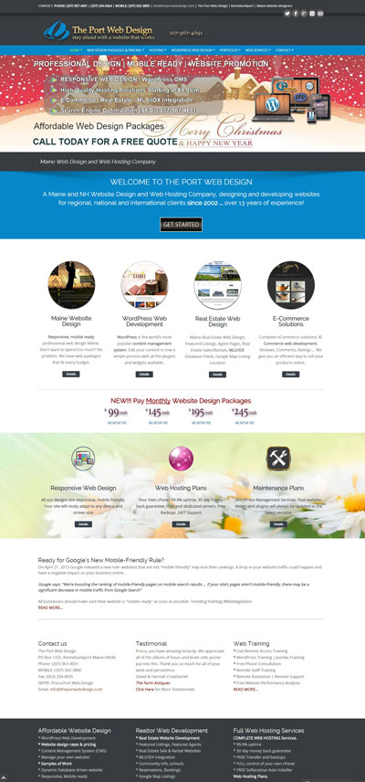 The Port Web Design Web Hosting WordPress Maine