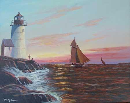 Val McGann, Maine Artist, Kennebunkport Maine